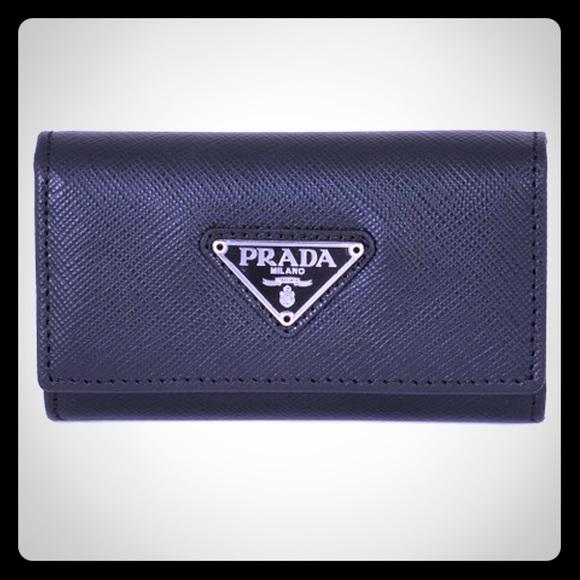 b36e321a85dab2 Prada Accessories | New Black Saffiano Leather Key Case | Poshmark